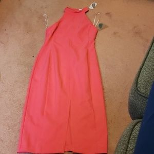 Halter dress front split